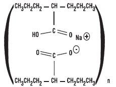 Divalproex sodium structural formula