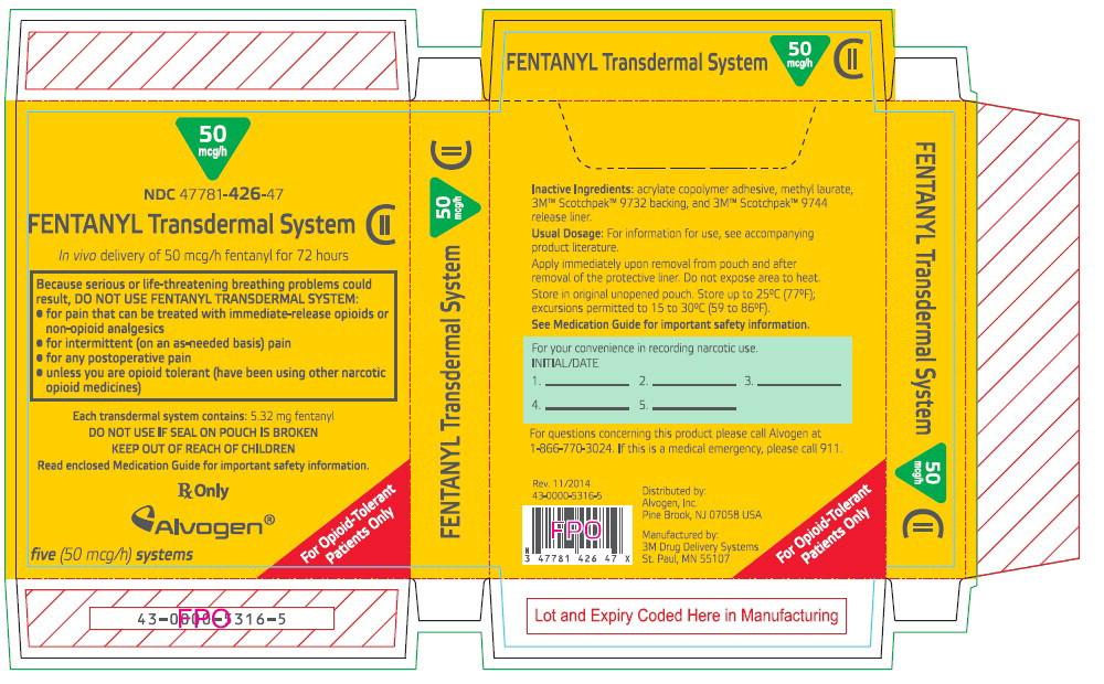 PRINCIPAL DISPLAY PANEL - 50 mcg/h Patch Carton