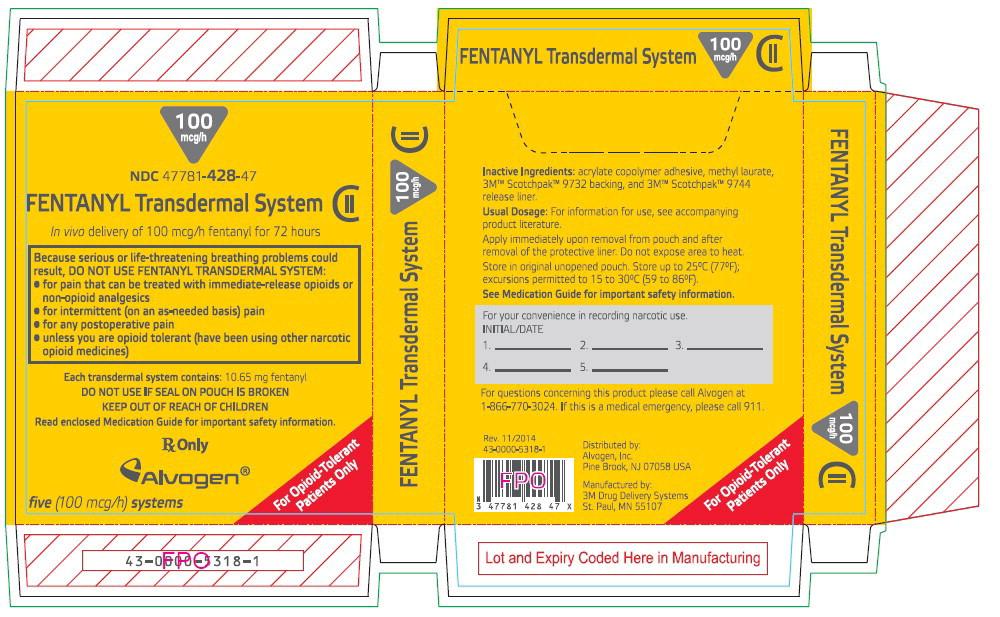 PRINCIPAL DISPLAY PANEL - 100 mcg/h Patch Carton