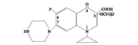 Ciprofloxacin Hydrochloride Structure