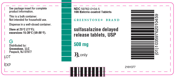 PRINCIPAL DISPLAY PANEL - 500 mg Tablet Bottle Label - NDC: <a href=/NDC/59762-0104-5>59762-0104-5</a>
