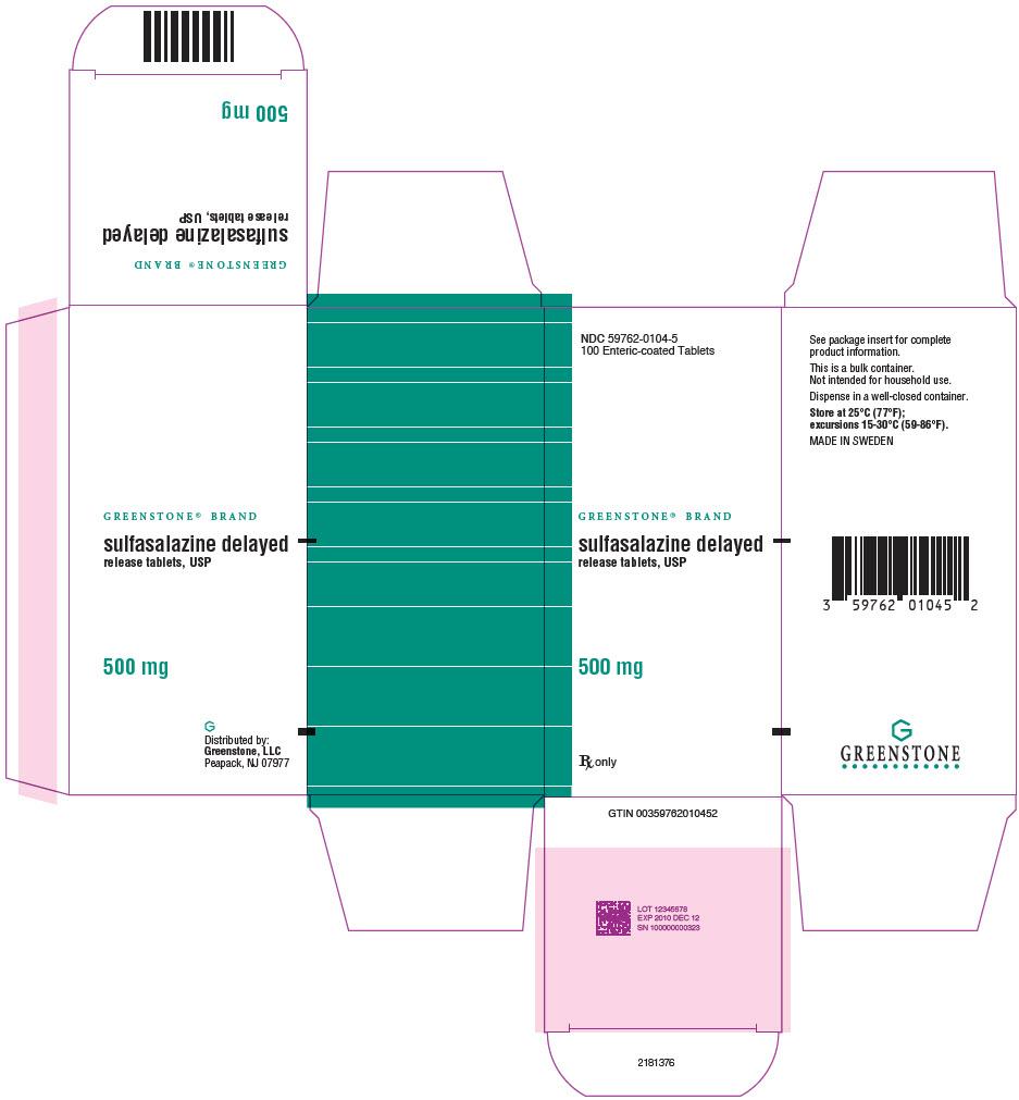 PRINCIPAL DISPLAY PANEL - 500 mg Tablet Bottle Carton - NDC: <a href=/NDC/59762-0104-5>59762-0104-5</a>