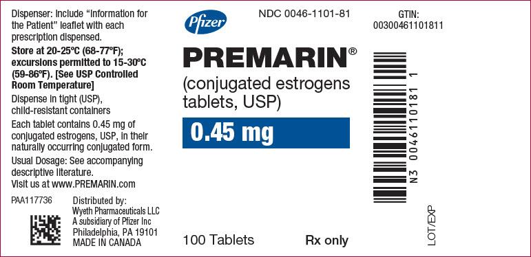 PRINCIPAL DISPLAY PANEL - 0.45 mg Tablet Bottle Label