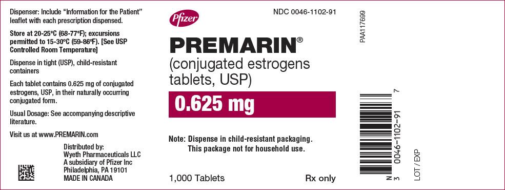 PRINCIPAL DISPLAY PANEL - 0.625 mg Tablet Bottle Label