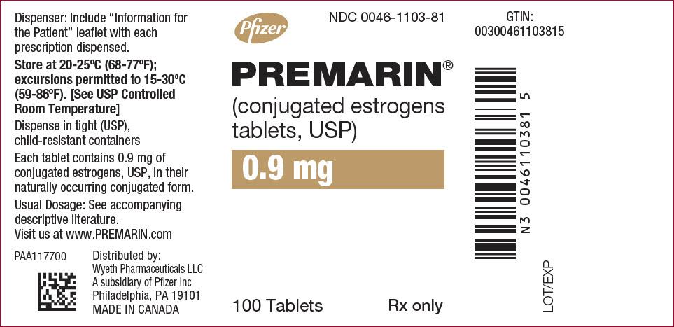 PRINCIPAL DISPLAY PANEL - 0.9 mg Tablet Bottle Label
