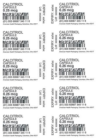 Card Print Calcitriol 0.25 mcg
