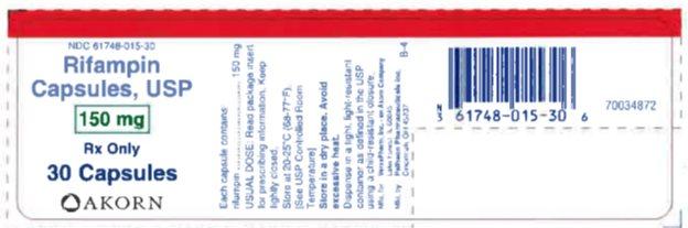 Rifampin 150 mg - Bottle Label
