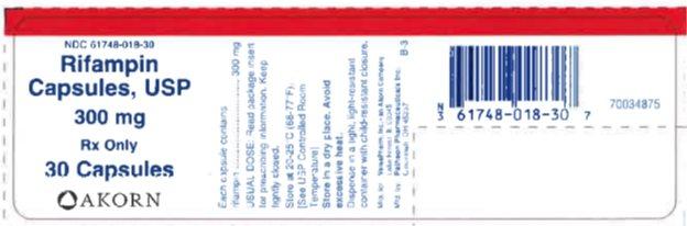Rifampin 300 mg - Bottle Label