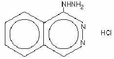 Hydralazine hydrochloride structural formula