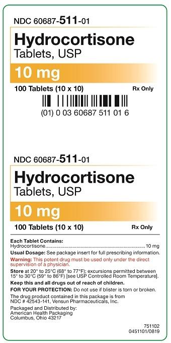 10 mg Hydrocortisone Tablets Carton