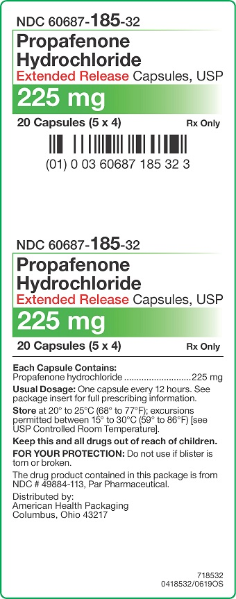 225 mg Propafenone HCl ER Capsules Carton