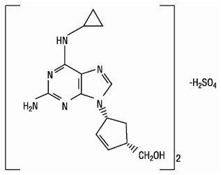 Ziagen chem structure