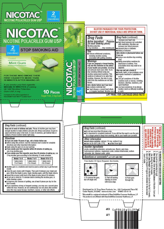 PRINCIPAL DISPLAY PANEL - 2 mg Gum Blister Pack Carton