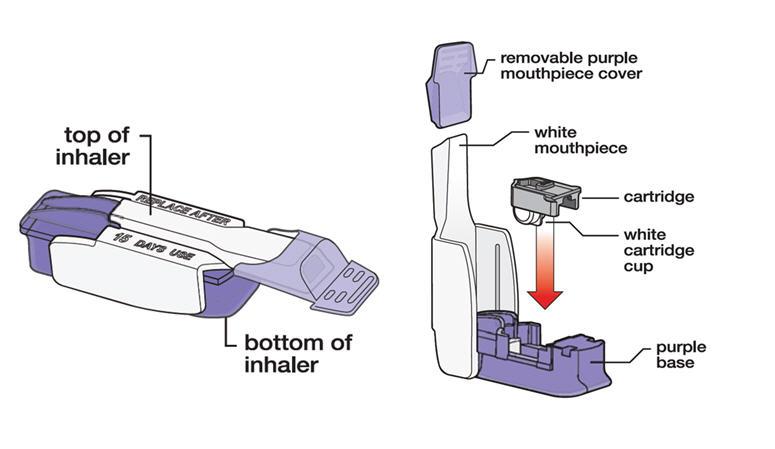 Diagram of Inhaler