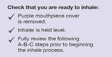 Check you are ready to inhale