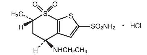 chemical structure_dorzolamide