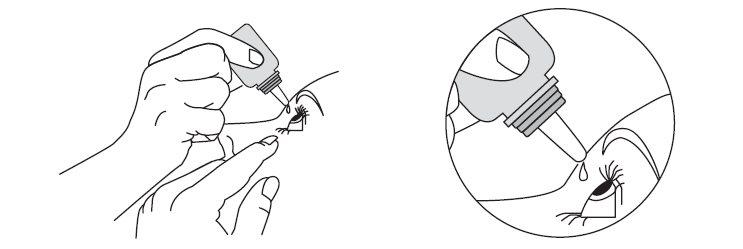 Dispensing drop into eye