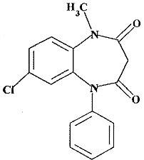 Clobazam Structural Formula