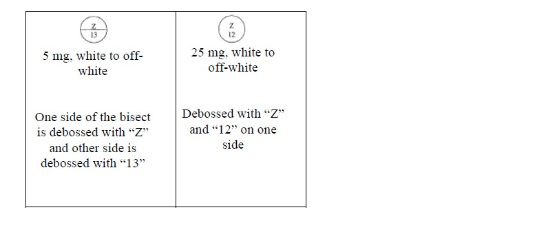Structured formula for lamotrigine