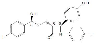 ezetimibe structural formula