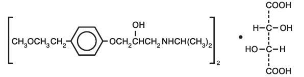Structure Metoprolol Tartrate
