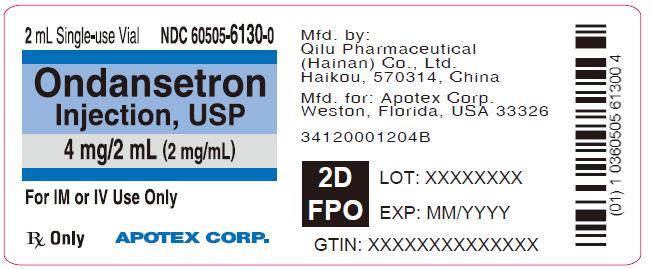 Ondansetron Injection USP Label Image - 2 mL Single-use Vials