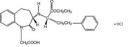benazepril hydrochloride structural formula