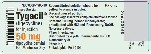 Principal Display Panel - 50 mg Vial Label