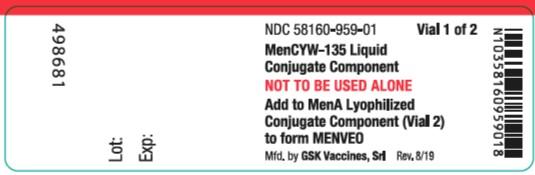 Menveo MenCYW-135 vial label