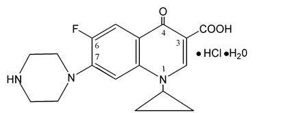 ciprofloxacin hydrochloride chemical structure