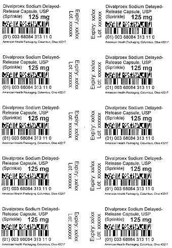 125 mg Divalproex Sodium DR Blister
