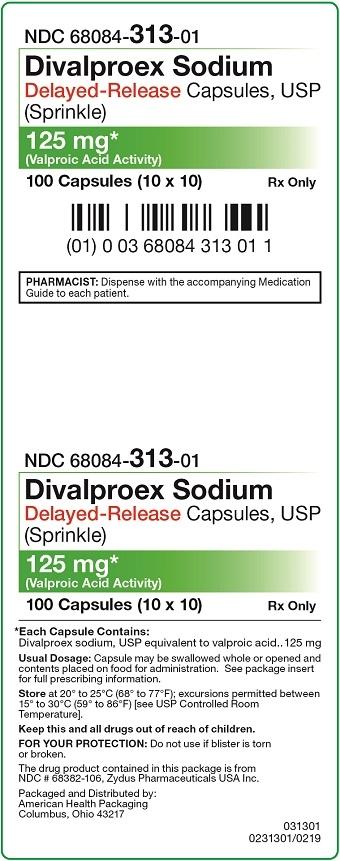 125 mg Divalproex Sodium DR Carton