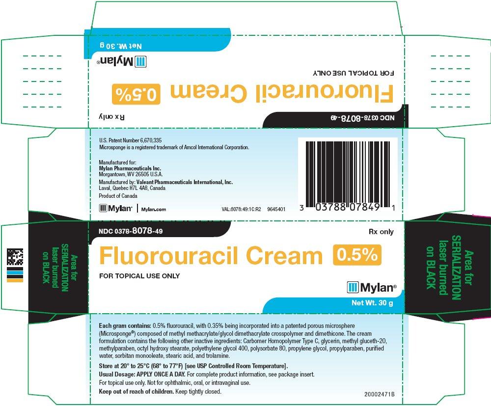 Fluorouracil Cream 0.5% Carton Label
