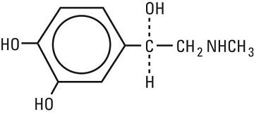 structrual formula epinephrine, usp