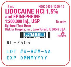 PRINCIPAL DISPLAY PANEL - 5 mL Ampule Label