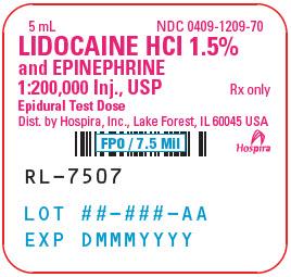 PRINCIPAL DISPLAY PANEL - 5 mL Ampule Label - 1209