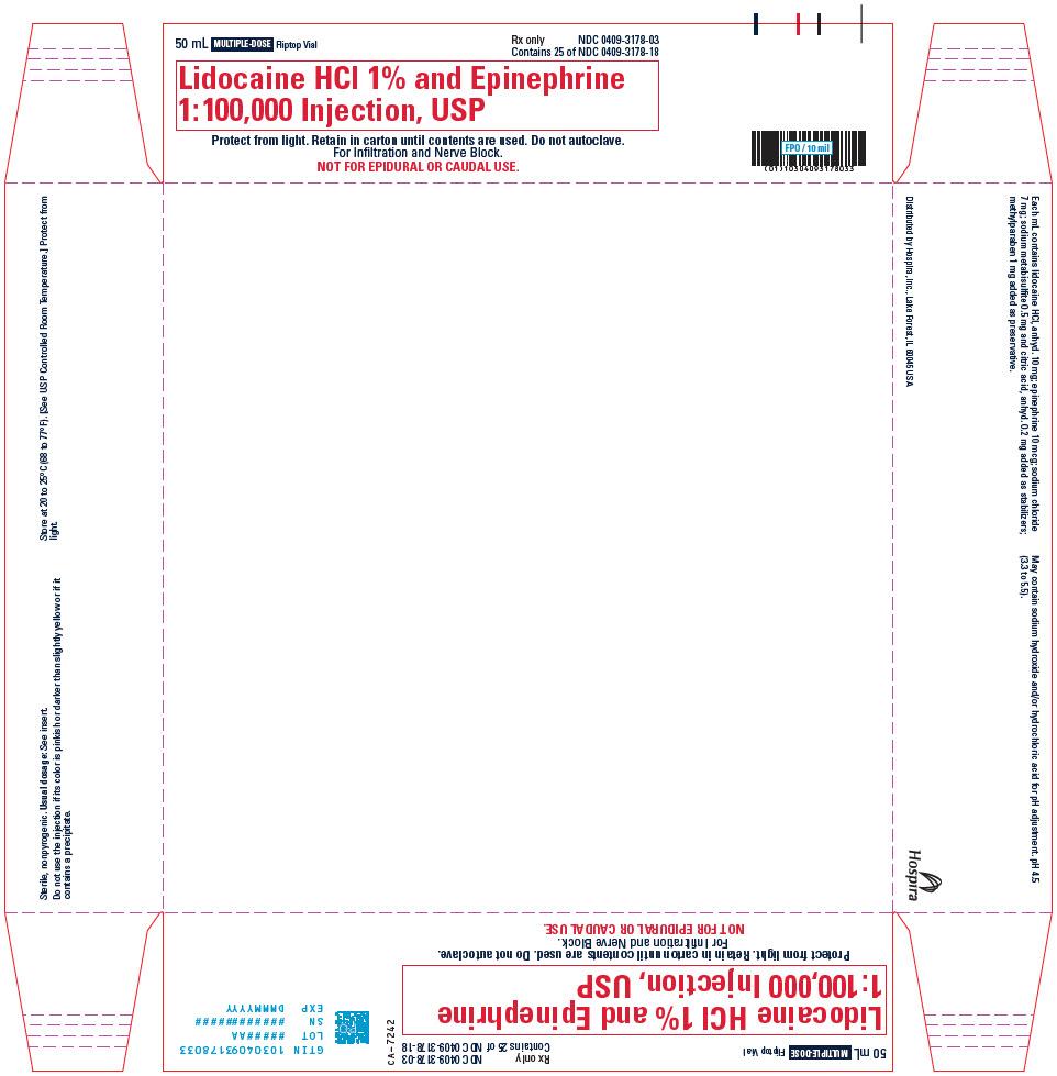 PRINCIPAL DISPLAY PANEL - 50 mL Vial Tray - 3178