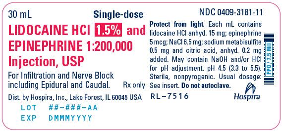 PRINCIPAL DISPLAY PANEL - 30 mL Vial Label - 3181