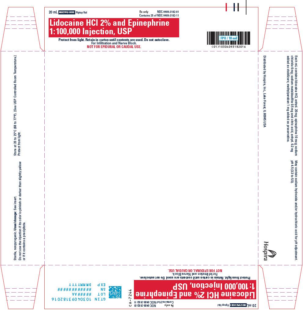 PRINCIPAL DISPLAY PANEL - 20 mL Vial Tray - 3182