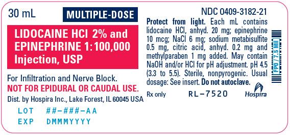 PRINCIPAL DISPLAY PANEL - 30 mL Vial Label - 3182