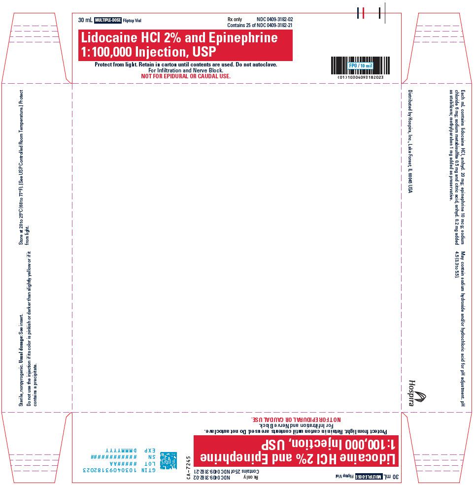 PRINCIPAL DISPLAY PANEL - 30 mL Vial Tray - 3182