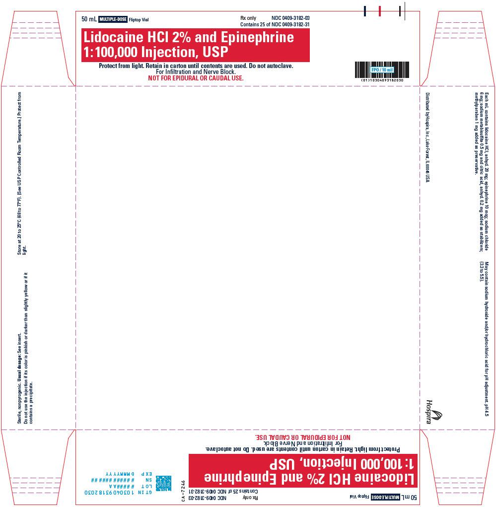 PRINCIPAL DISPLAY PANEL - 50 mL Vial Tray - 3182