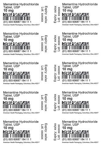 10 mg Memantine HCl Tablet Blister