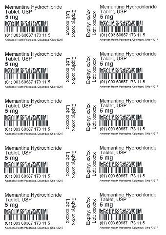 5 mg Memantine HCl Tablet Blister