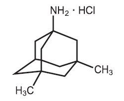 Memantine HCl Structural Formula
