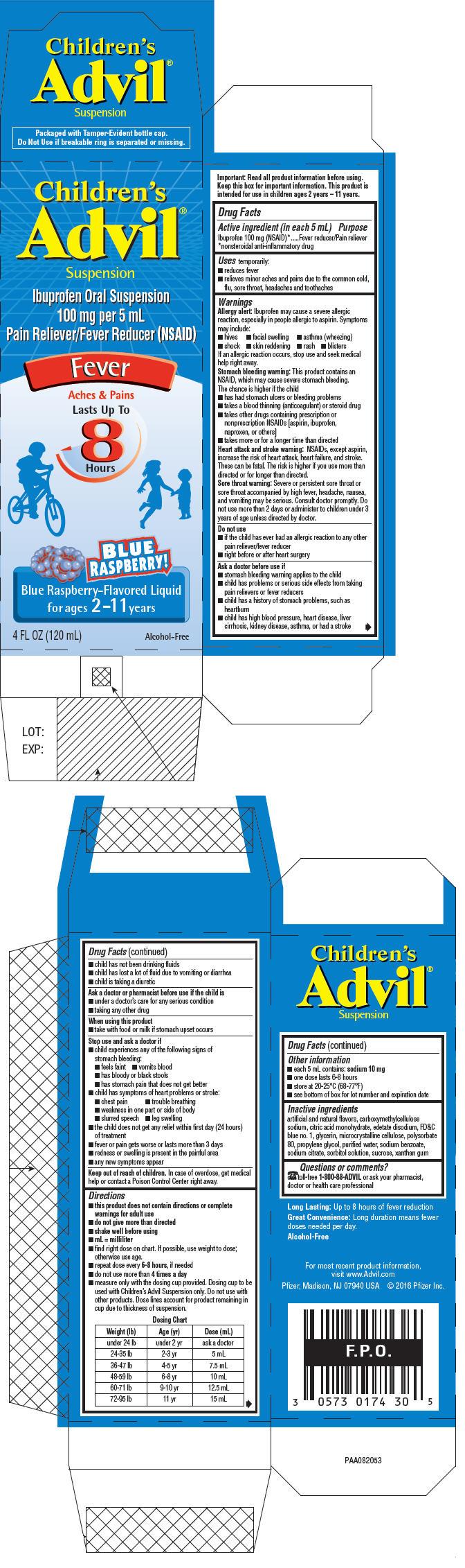PRINCIPAL DISPLAY PANEL - 120 mL Bottle Carton - Blue Raspberry-Flavored