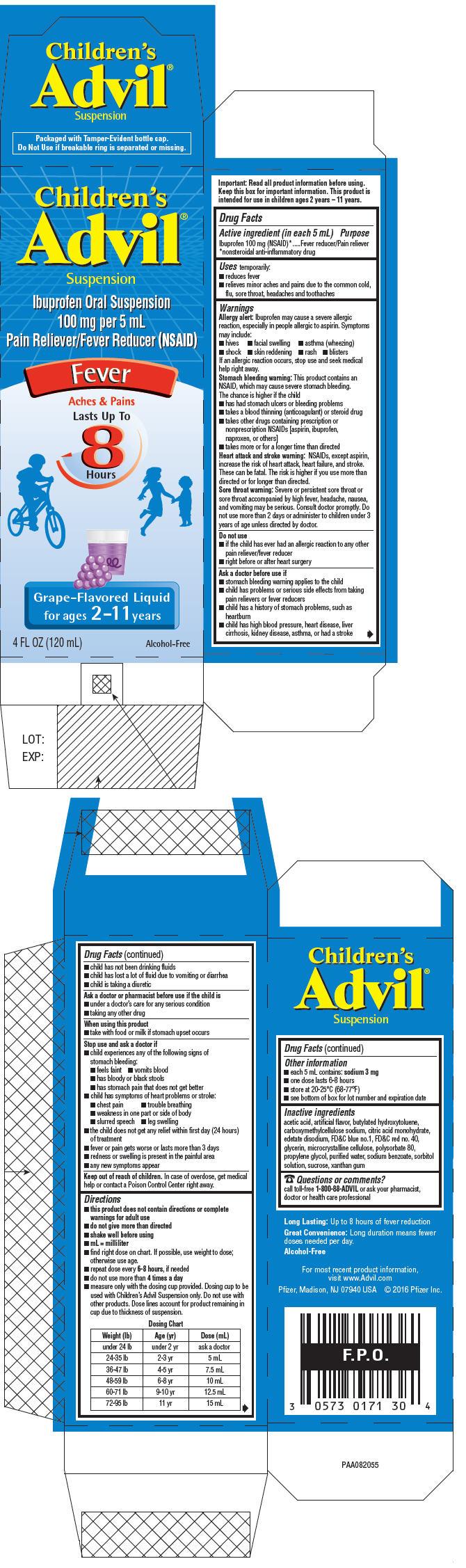 PRINCIPAL DISPLAY PANEL - 120 mL Bottle Carton - Grape-Flavored