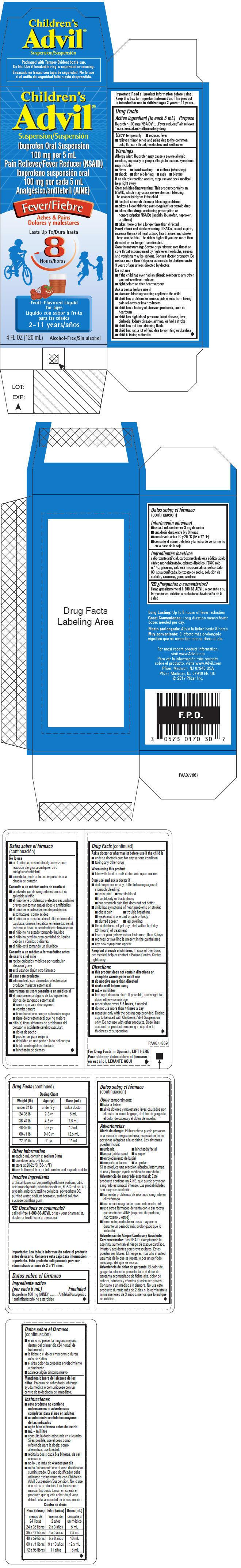 PRINCIPAL DISPLAY PANEL - 120 mL Bottle Carton - Fruit-Flavored