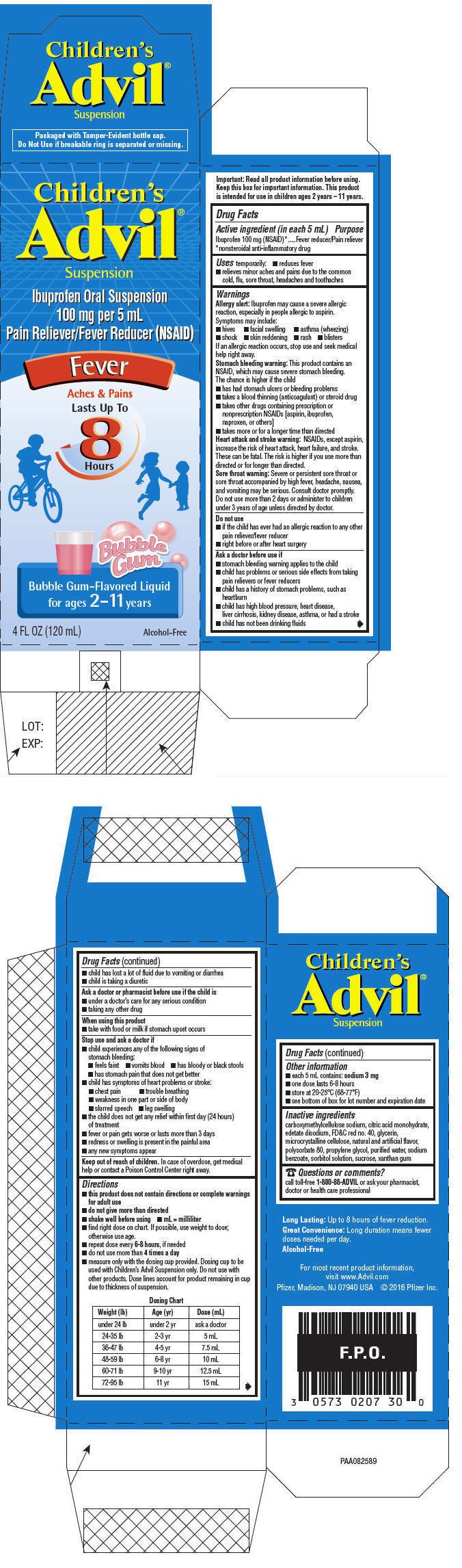 PRINCIPAL DISPLAY PANEL - 120 mL Bottle Carton - Bubble Gum-Flavored