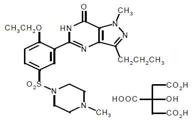 sildenafil citrate structural formula